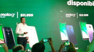 Lanzamiento. Germán Greco, gerente general de Motorola, presentó el nuevo modelo.