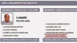 Morzán aparece en la lista comunal que lleva a Bielsa a la Gobernación.