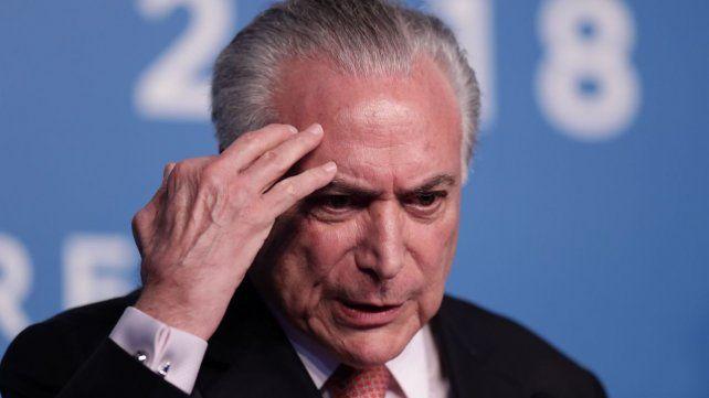 Arrestan al ex presidente brasileño Michel Temer por vinculación al Lava Jato