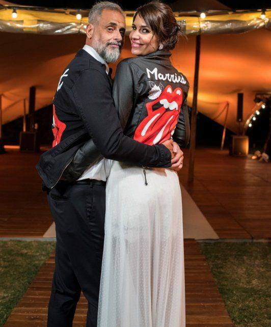 Las fotos de la boda de Jorge Rial, en su momento más feliz