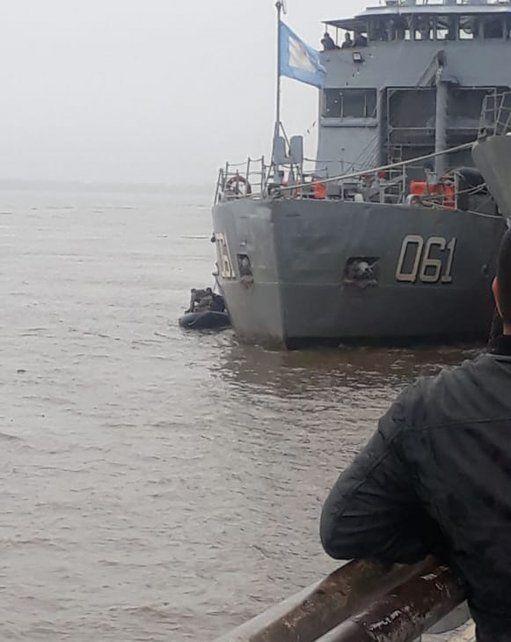 Rescataron a un hombre de las aguas del río Paraná