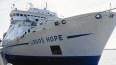 Barco Librería. El Logos Hope tiene un equipo de más de 400 personas.