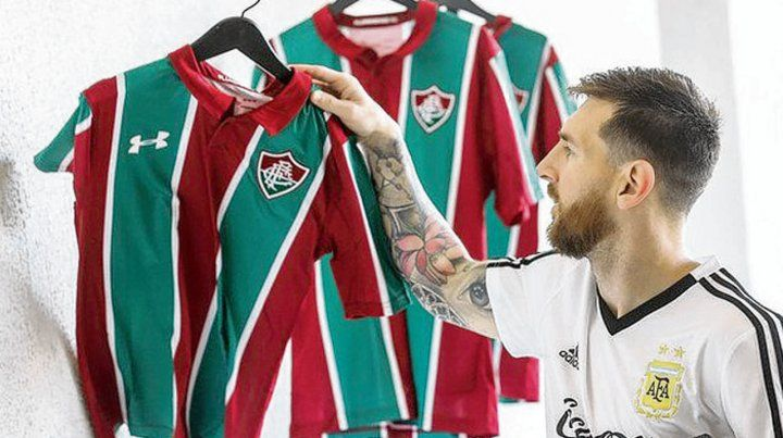 Messi se llevó la camiseta 10 de Fluminense