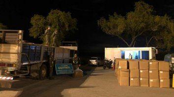 Puente a Victoria. La carga secuestrada el 27 de mayo eran 400 cajas de tabaco de origen extranjero.