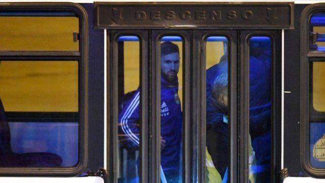 Tras la polémica de la Copa América, Messi arribó a Rosario