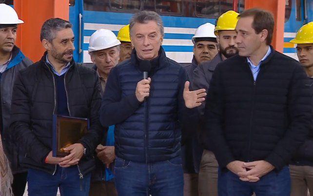 El presidente Mauricio Macri inauguró hoyel nuevo taller ferroviario Tolosa