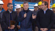 El presidente Mauricio Macri inauguró hoyel nuevo taller ferroviario Tolosa, en La Plata, cerrado desde 2011.