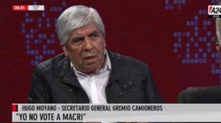 Moyano calificó de mitómano a Macri