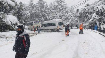 intensas nevadas en los principales destinos turisticos de la patagonia