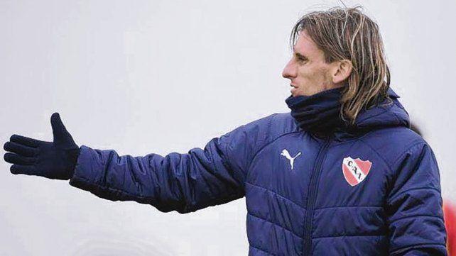 Molesto. El técnico de Independiente dijo que no quería jugar ya por la copa.