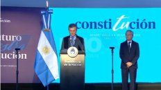 El presidente Macri durante la ceremonia en Santa Fe por los 25 años de la reforma constitucional.