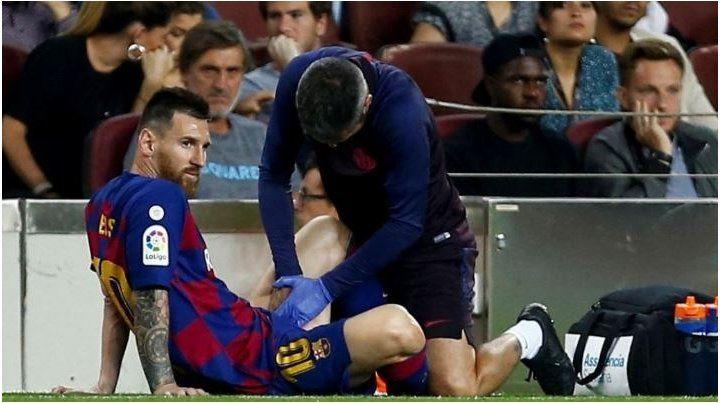 Barcelona confirmó cuál es la lesión que sufrió Messi