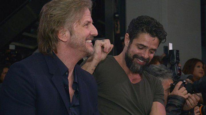 Facundo Arana y Luciano Castro en la presentación de la tira de Telefé
