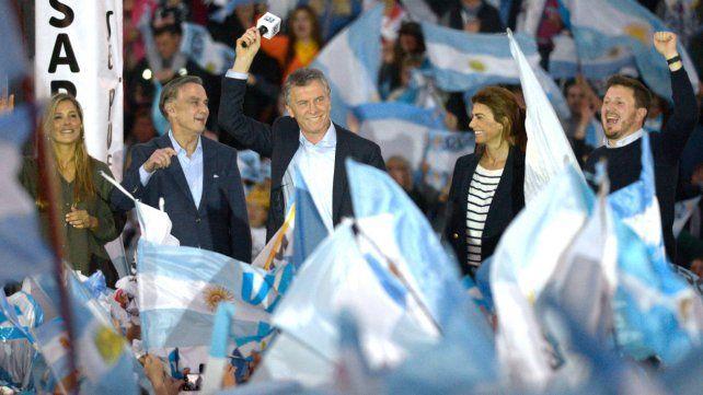 Candidato. Macri trajo a Rosario su marcha del Sí