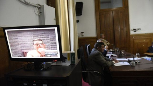Videoconferencia. Cantero siguió el debate desde la cárcel de Marcos Paz
