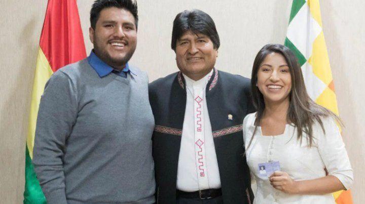 Los hijos de Evo Morales llegaron a la Argentina