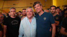 Ameal y Pergolini, anoche en Boca.