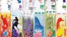dinero. Los billetes con figuras de la fauna autóctona comenzaron a emitirse en junio de 2016.