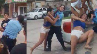 Brutal golpiza a una mujer policía se viralizó a través de las redes