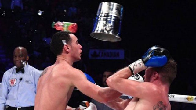 Escándalo en un combate de boxeo que terminó con dos detenidos