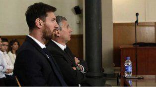 Lionel Messi y su padre