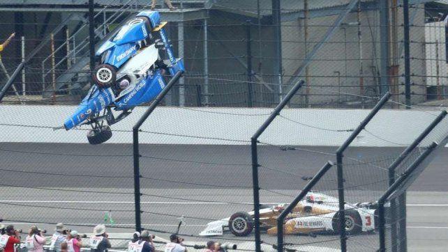 Impactante accidente en las 500 millas de Indianápolis