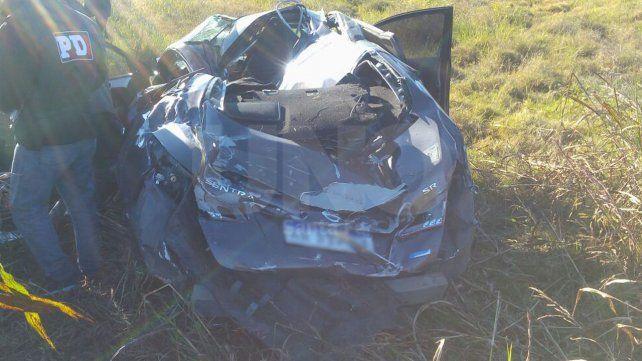 Murió un entrerriano que volcó con su auto en una ruta santafesina