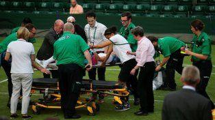 Se rompió la rodilla en pleno partido y quebró en llanto