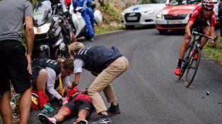 Fuerte caída lo dejó afuera del Tour de Francia