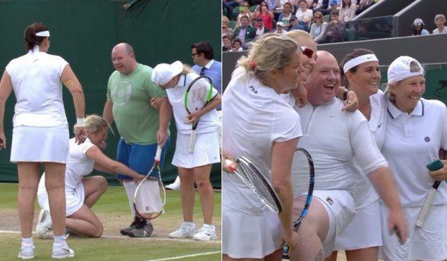 Lo invitaron a jugar e hizo un papelón en Wimbledon
