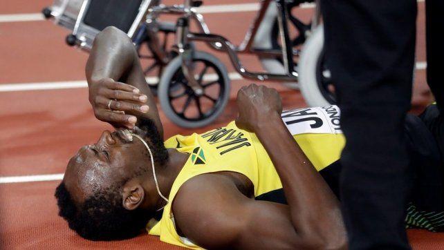 ¿Cuál fue la lesión que empañó el retiro de Usain Bolt y por qué la sufrió?