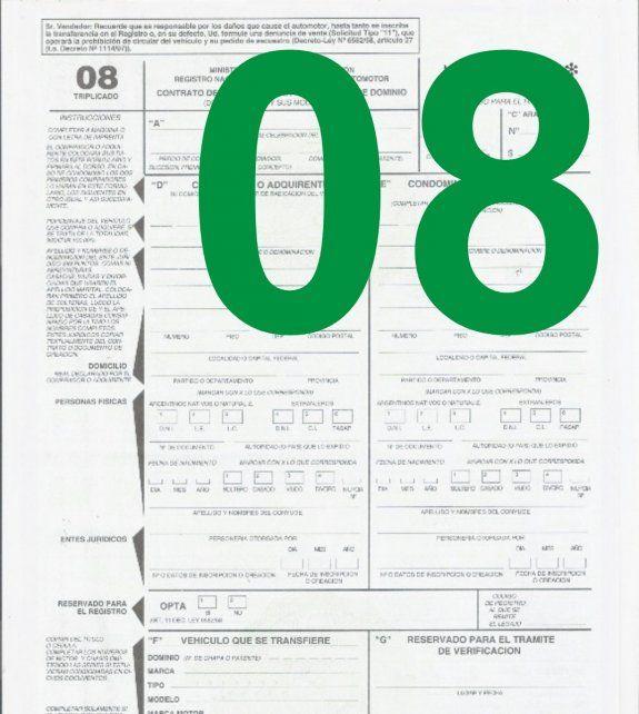 El Formulario 08 se puede completar por Internet