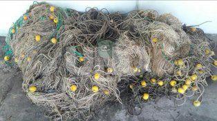 Secuestraron 450 kilos de pescado depredados y medio kilómetros de redes fuera de medida