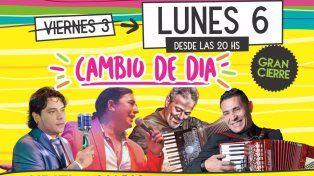 Fiesta de la Cumbia: la fecha de hoy se reprograma para el lunes