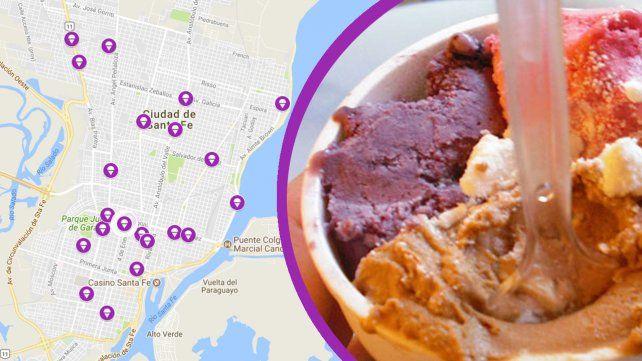 Si te gusta el helado cruzá el túnel: El mapa de La noche de las heladerías