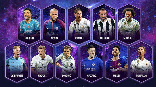 Messi es el único argentino en el equipo ideal de la UEFA en 2017