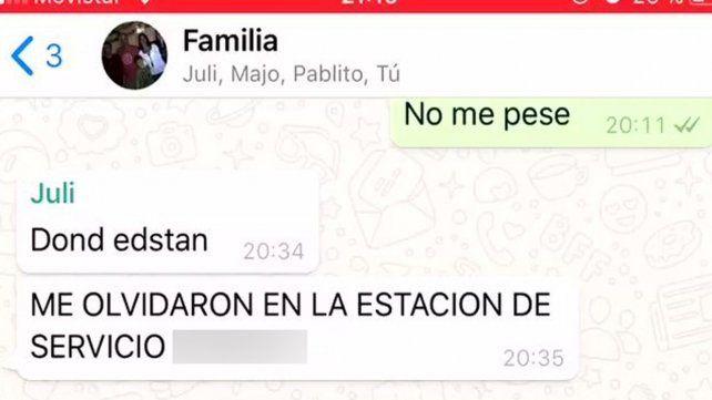 Una familia volvía de vacaciones y olvidaron a una de sus hijas en el camino
