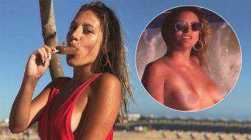 marian farjat se mostro como dios la trajo al mundo: amo las playas nudistas