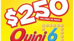 Con un pozo récord el Quini 6 sortea esta noche $250 millones