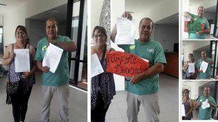 En San Luis una pareja se divorció y festejaron con champagne en el juzgado