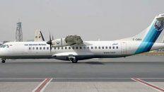 Este es el avión que se desplomó.