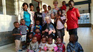 Cumpliendo su misión en Kenia.