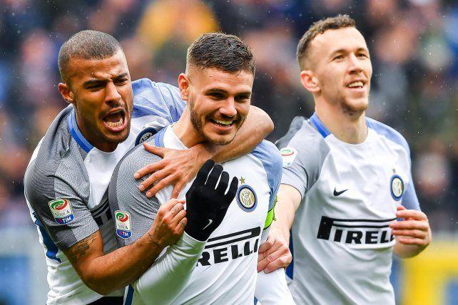 ¡Un día soñado para Icardi! Póker y marca histórica en el triunfo del Inter