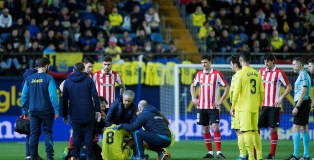 Un jugador de Villareal se desplomó y asustó a todos