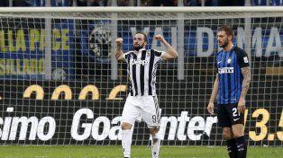 De la mano de Higuaín, la Juve le ganó un partido clave a Inter