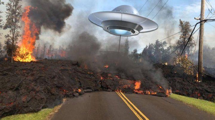 Descubren un Ovni cerca del volcán que entró en erupción en Hawái