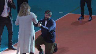 Le pidió casamiento en el medio de un partido de Las Panteras en Santa Fe