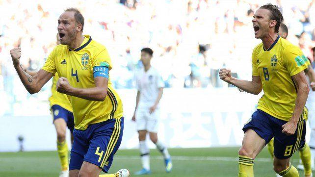 Suecia le ganó a Corea con la ayuda del VAR