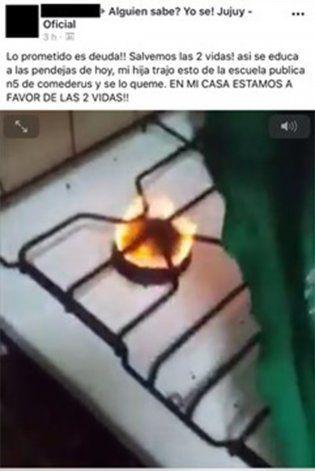 Una madre quemó el pañuelo verde de su hija: Así se educa a las pendejas de hoy