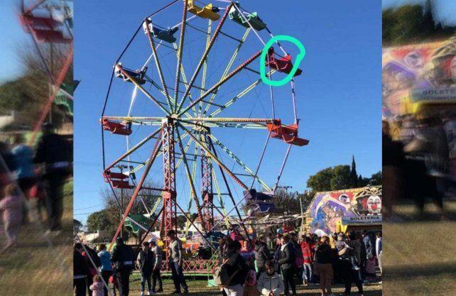Un parque de diversiones se fue después de un accidente con dos nenes
